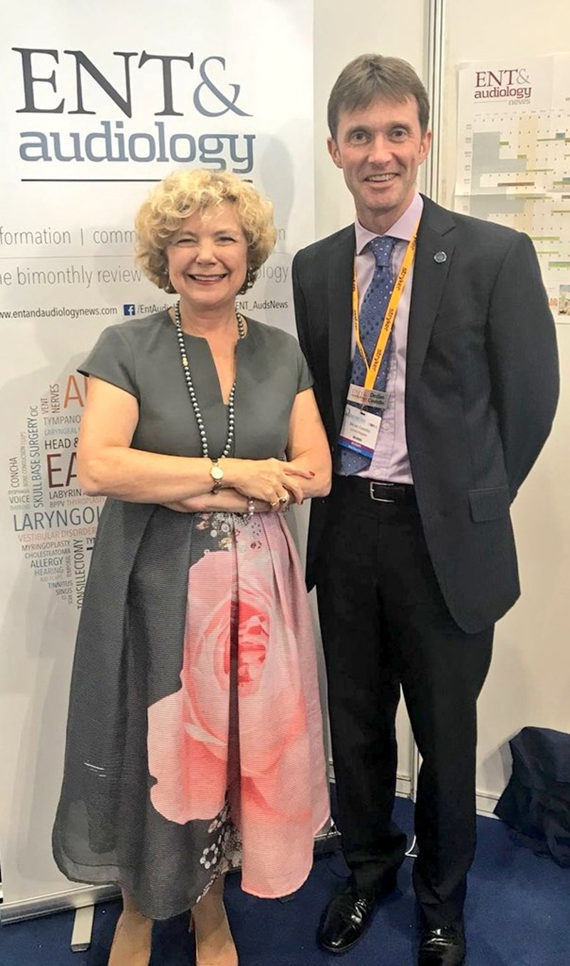 #BACO2018 Master, Valerie Lund and @ENT_AudsNews News Editor, Declan Costello @Voicedoctor_uk this afternoon.jpg