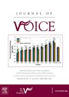 Journal of Voice cover