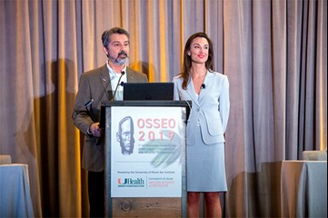 Fred Telischi and Hillary Snapp opening the congress