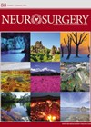 Neurosurgery journal cover image.
