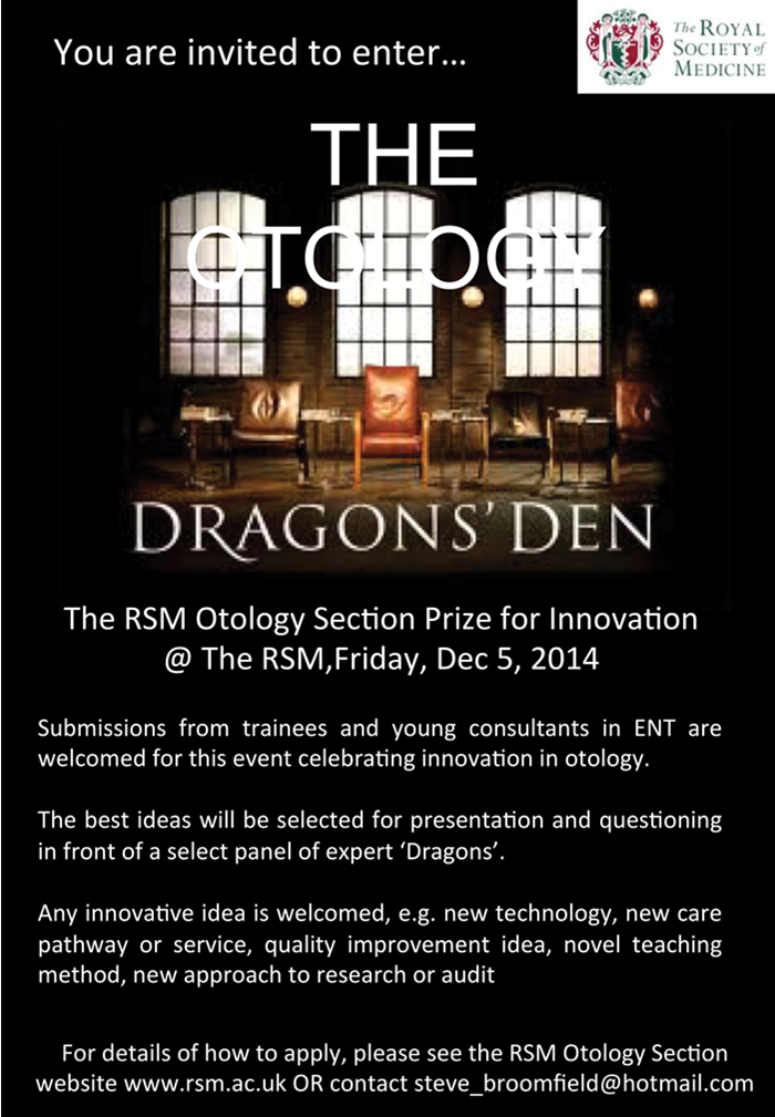RSM 'Otology Dragon's Den' - Interview with Professor Gerard