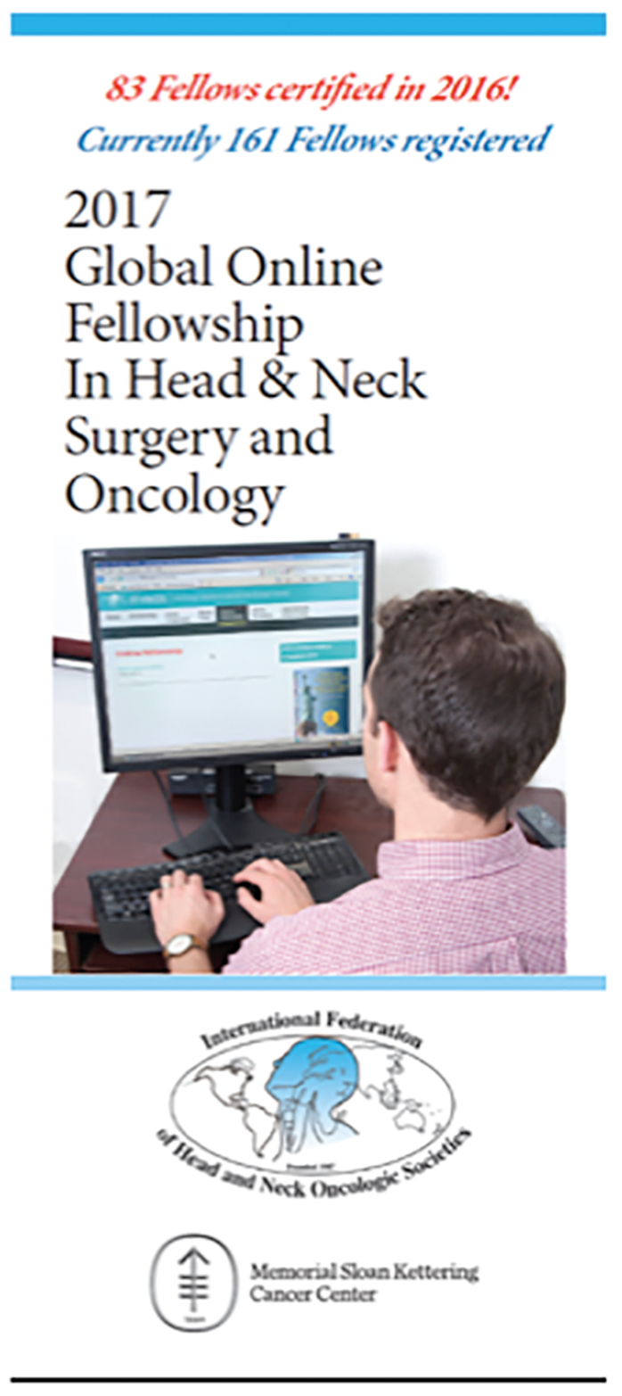 A global online fellowship in head and neck surgery and
